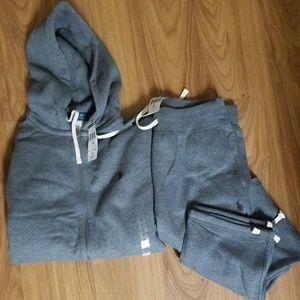 Authenic polo ralph lauren fleece sweat suit
